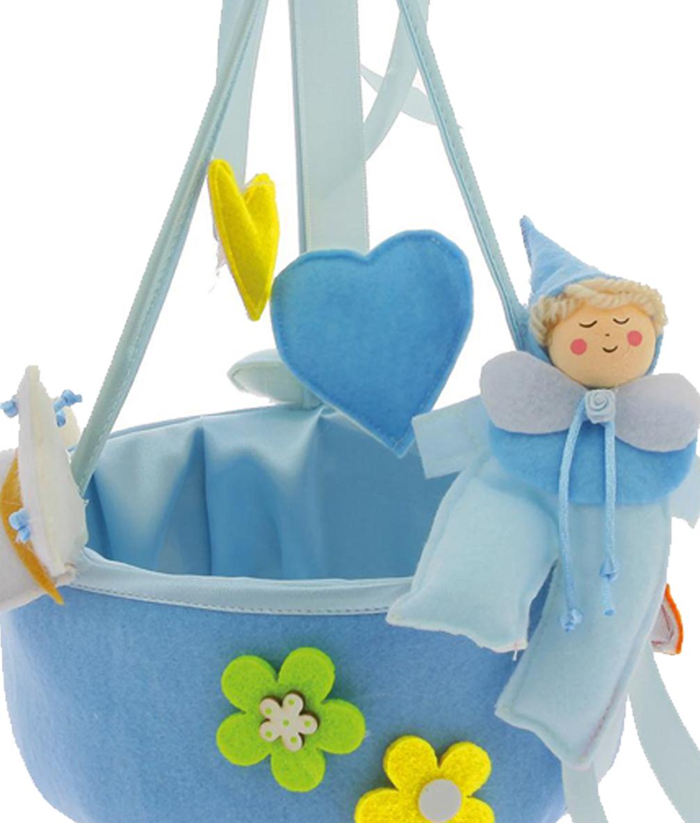 Extrêmement Cesto Porta Confetti Pagliaccio Nascita Battesimo, Confettata | eBay RV07