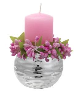 Porta candela rosa - NonSoloCerimonie.it