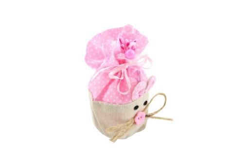 Bomboniera coniglietto rosa 3 - NonSoloCerimonie.it