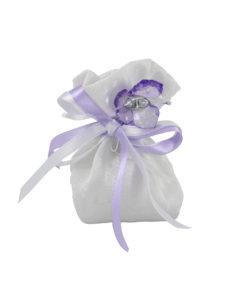 Sacchetto bianco farfalla lilla 1 - NonSoloCerimonie
