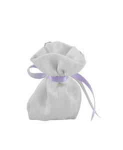 Sacchetto bianco farfalla lilla 3 - NonSoloCerimonie