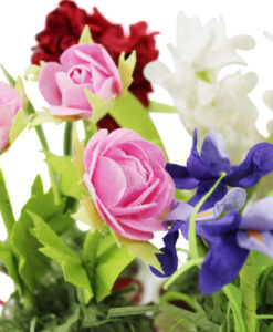 Vasi fioriti 2 - Orsetto celeste 3 - NonSoloCerimonie.it