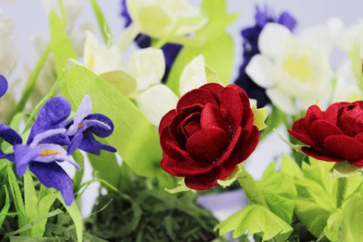 Vasi fioriti 4 - Orsetto celeste 3 - NonSoloCerimonie.it