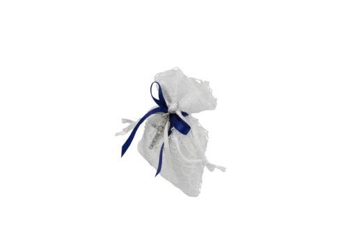 Sacchetto bianco blu croce 2 - NonSoloCerimonie.it