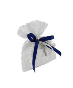 Sacchetto bianco blu croce 3 - NonSoloCerimonie.it