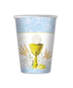 Bicchieri comunione azzurro 1 - NonSoloCerimonie.it