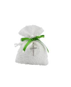 Sacchetto bianco verde croce 1 - NonSoloCerimonie.it