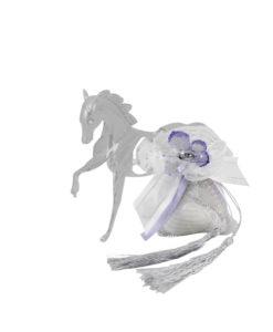 Bomboniera Cavallo lilla 1 - NonSoloCerimonie.it
