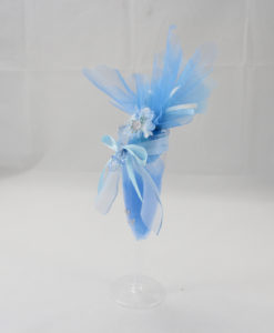 Segnaposto Bicchiere azzurro 1 - NonSoloCerimonie.it