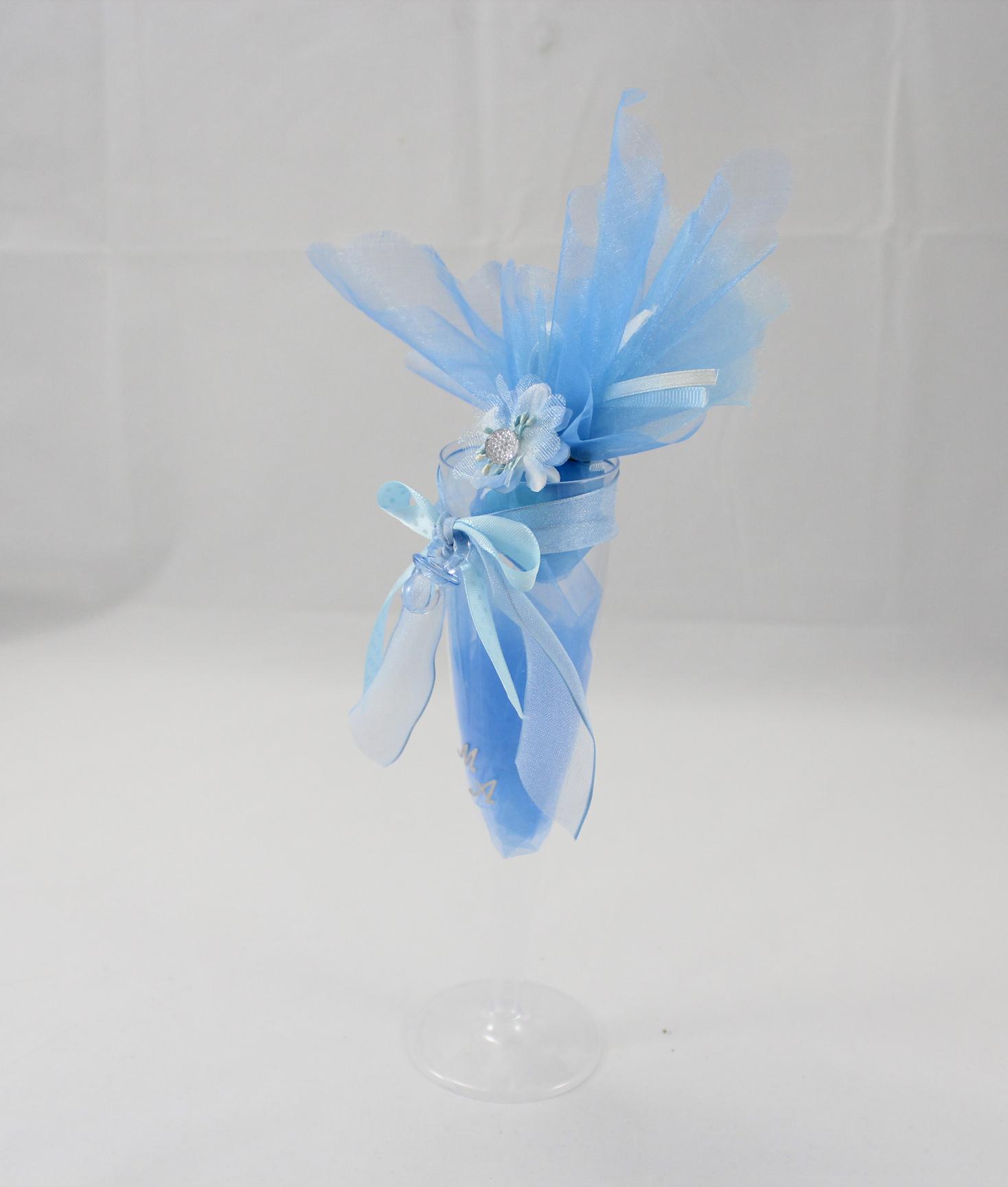 Segnaposto Matrimonio Azzurro : Segnaposto bicchiere bomboniera azzurro nonsolocerimonie