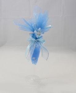 Segnaposto Bicchiere azzurro - NonSoloCerimonie.it
