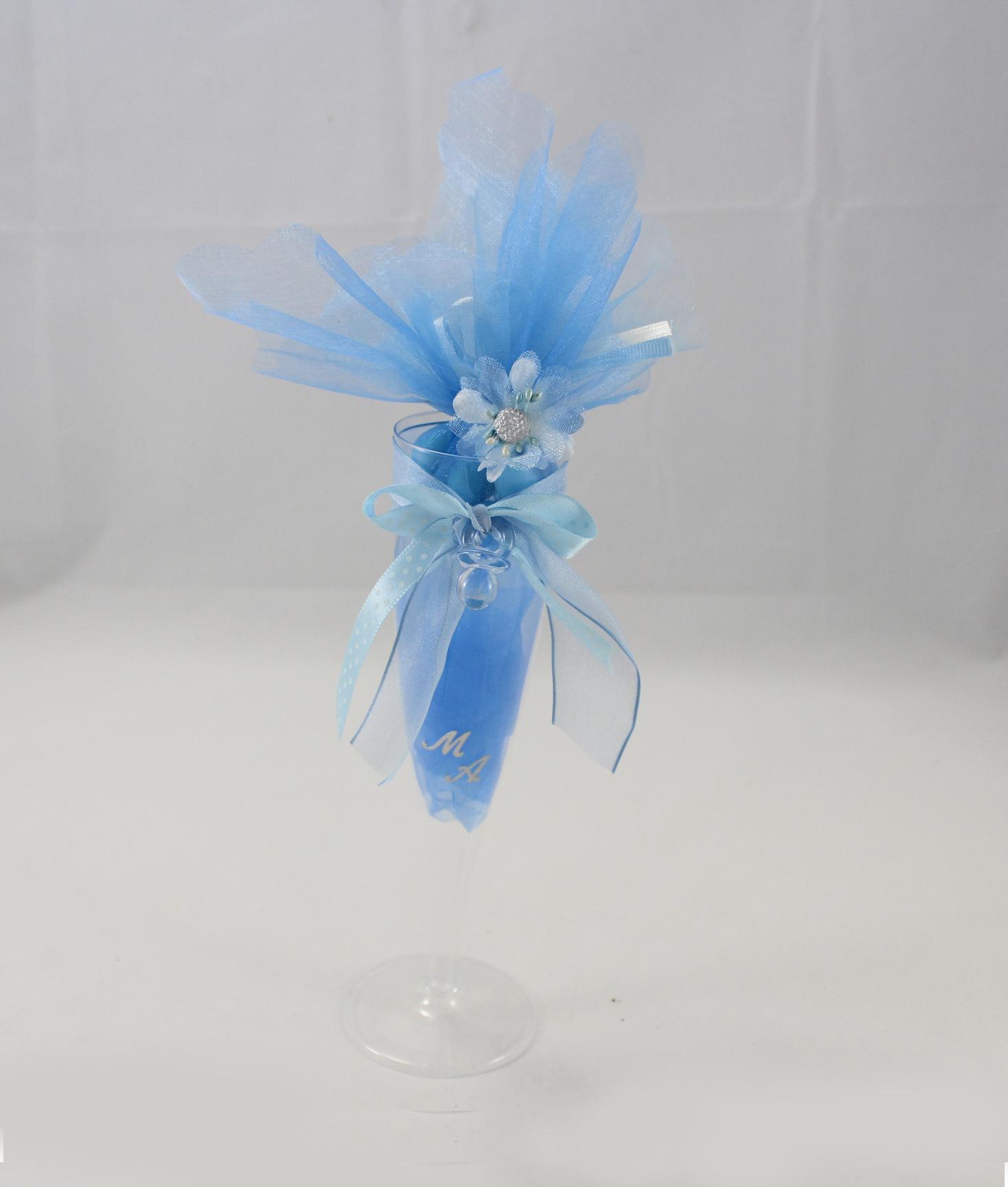 Bomboniera Matrimonio Azzurro : Segnaposto bicchiere bomboniera azzurro nonsolocerimonie.it