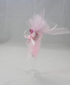 Segnaposto Bicchiere Rosa 1 - NonSoloCerimonie.it