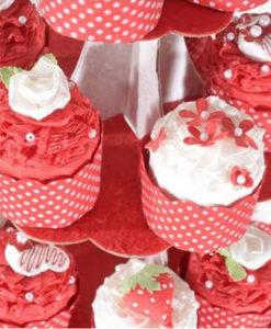 Torta Capecupe rossa 3 - NonSoloCerimonie.it
