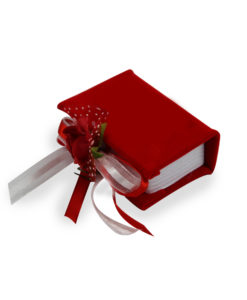 Bomboniera Libro rosso 2 - NonSoloCerimonie.it