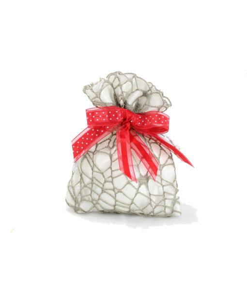 Sacchetto corallo argento penna 3 - NonSoloCerimonie.it