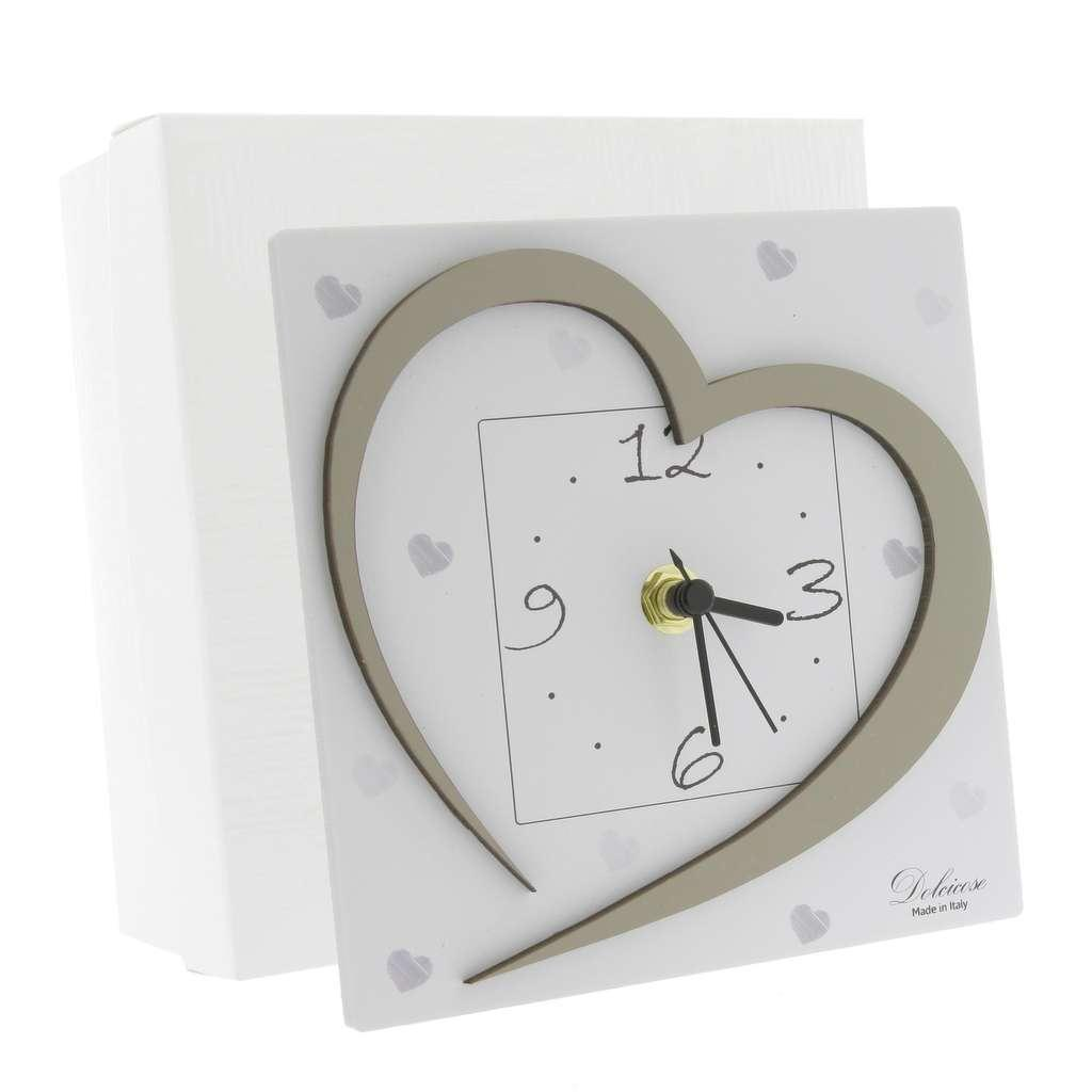 Auguri Matrimonio Orologio : Bomboniera orologio cuore nonsolocerimonie