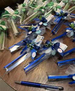 Bomboniera Penna Strass Verde Blu - NonSoloCerimonie.it