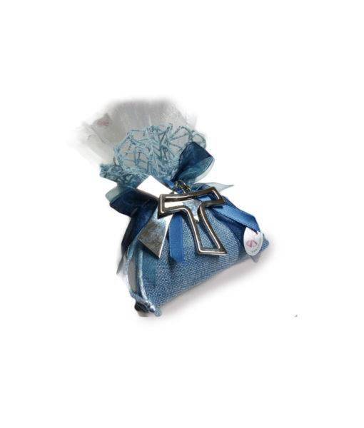 Bomboniera Portachiavi Acciaio azzurro - NonSoloCerimonie.it