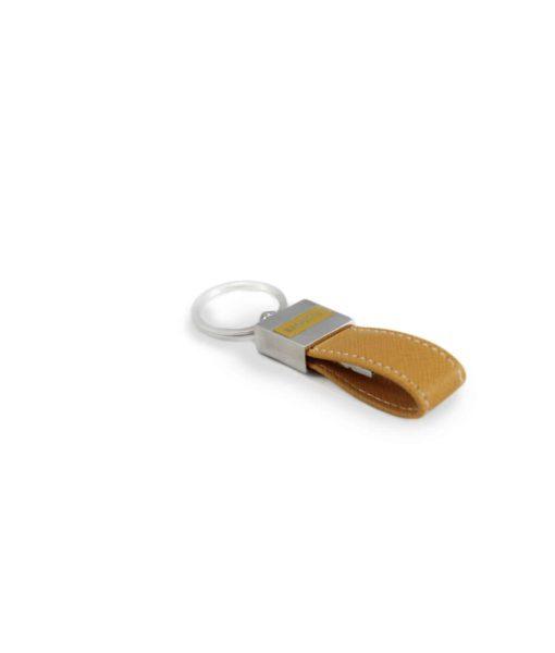 Portachiavi Chiavetta USB Pelle gialla 1 - NonSoloCerimonie.it