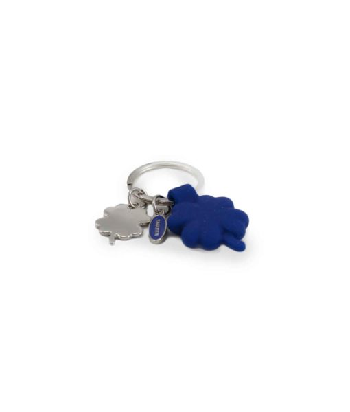 Portachiavi acciaio silicone quadrifoglio blu 2 - NonSoloCerimonie.it
