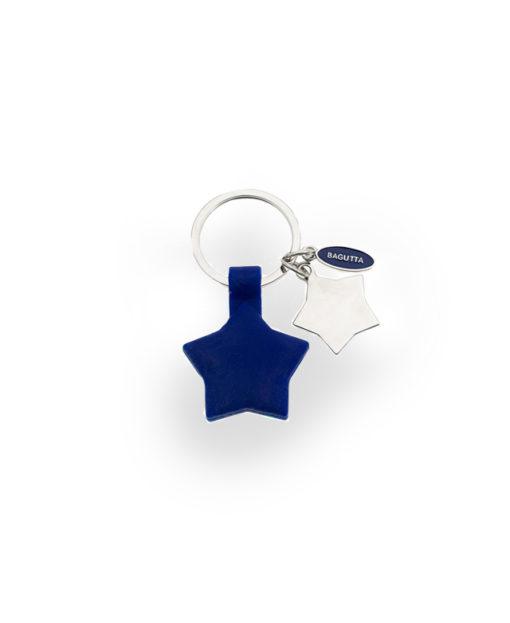 Portachiavi acciaio silicone stella blu - NonSoloCerimonie.it