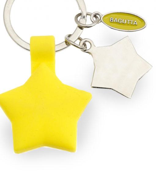 Portachiavi acciaio silicone stella gialla 1 - NonSoloCerimonie.it