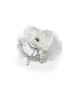 Bomboniera sacchetto rosa bianca strass - NonSoloCerimonie.it