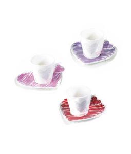Tazzina Caffe Cuore Color - NonSoloCerimonie.it