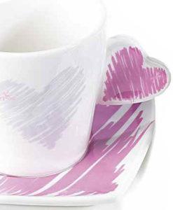 Tazzina Caffe Cuore Color Lilla 1 - NonSoloCerimonie.it