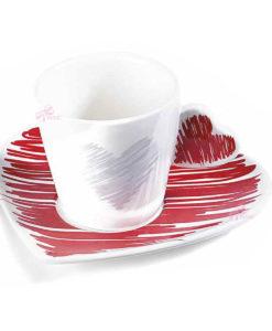 Tazzina Caffe Cuore Color Rosso 1 - NonSoloCerimonie.it