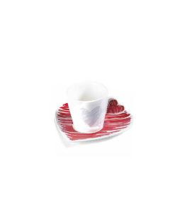 Tazzina Caffe Cuore Color Rosso - NonSoloCerimonie.it