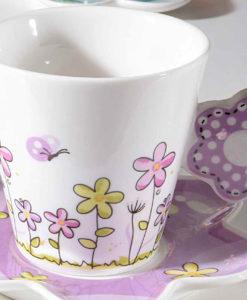Tazzina Caffè Fiore Color Lilla 1 - NonSoloCerimonie.it