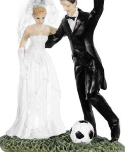 Cake Topper Sposi Calcio 1 - NonSoloCerimonie.it