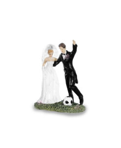 Cake Topper Sposi Calcio - NonSoloCerimonie.it