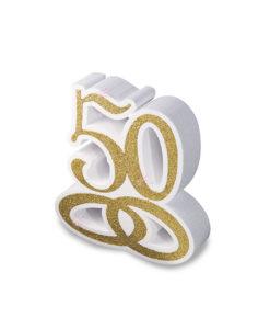 50 Anni Scritta Polistirolo - NonSoloCerimonie.it