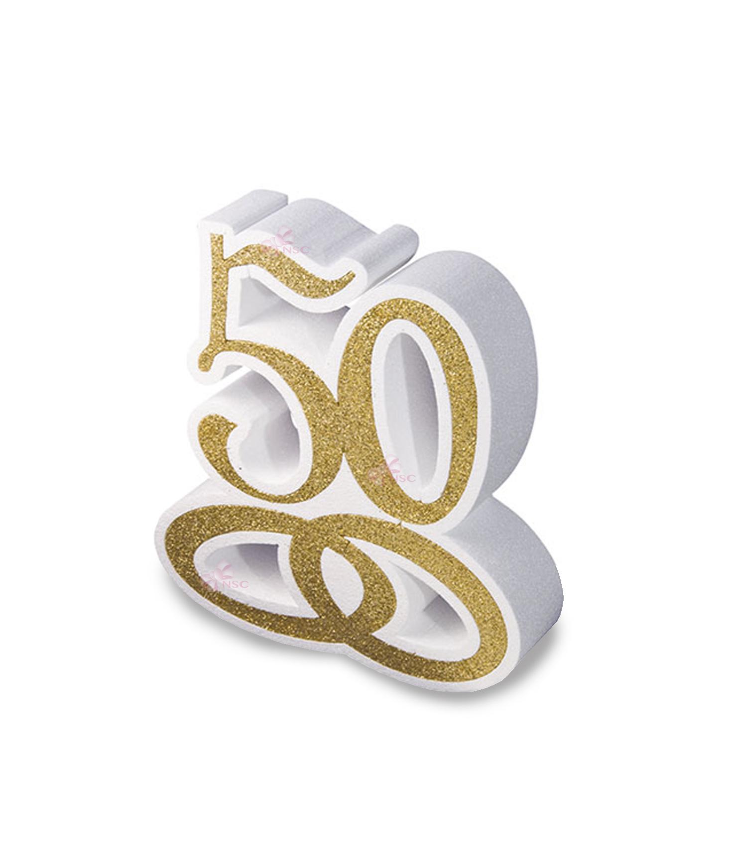 50 Anni Scritta Polistirolo