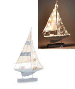 Barca Vela Decorativa con Luci - NonSoloCerimonie.it