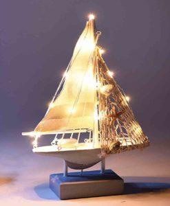 Barca Vela Decorativa con Luci Piccola 6 - NonSoloCerimonie.it