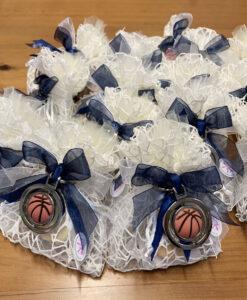 Bomboniera Sacchetto Portachiavi Pallone Basket Blu 101 - NonSoloCerimonie.it