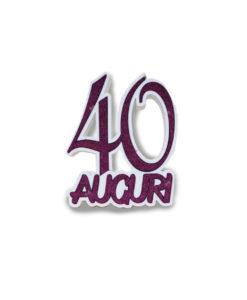 40 Anni Scritta Polistirolo - NonSoloCerimonie.it