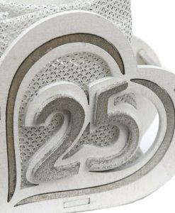 Bomboniera Cuore Legno 25 Anni 1 - NonSoloCerimonie.it