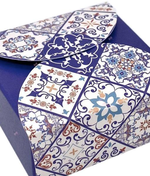 Bomboniera Scatola Disegno Maioliche Blu - NonSoloCerimonie.it