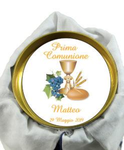 Bomboniera Cilindro Twist Cravatta Maxtris Bianco Blu 2 - NonSoloCerimonie.it