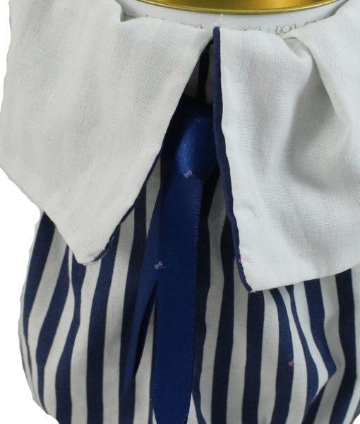 Bomboniera Cilindro Twist Cravatta Maxtris Bianco Blu 3 - NonSoloCerimonie.it
