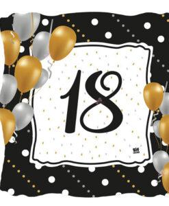 Piatti Compleanno 18 Anni Nero Oro 1 - NonSoloCerimonie.it