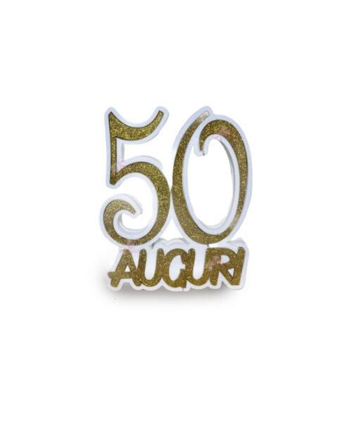 50 Anni Auguri Scritta Polistirolo - NonSoloCerimonie.it