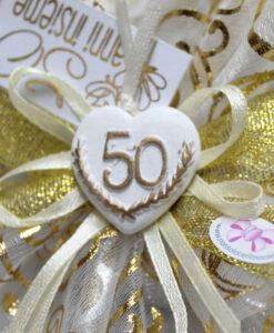 Bomboniera Centrino Oro Cuore 50 2 - NonSoloCerimonie.it