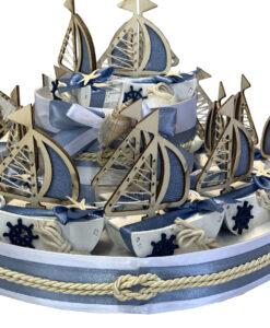 Torta Bomboniera Barca Vela 2 - NonSoloCerimonie.it